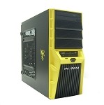 Inwin Yellow Custom Built Desktop Computer