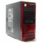 Logisys Red Built Desktop Computer