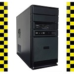 Black Custom Built Desktop Computer